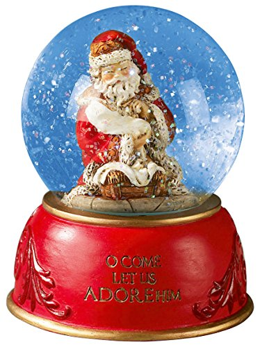 Gifts Of Faith Musical Christmas Snow Globe, O Come All Ye Faithful