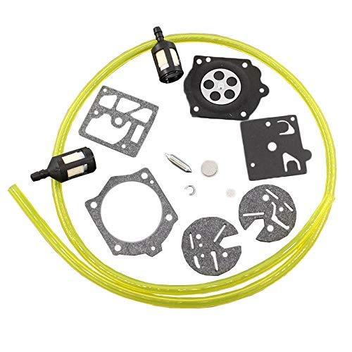 HQparts Carburetor Carb Repair Rebuild Kit for Homelite UT10501 UT-10454-A UT-10537 UT-10654 UT-10655 UT-10468 UT-10470 UT-10505 UT-10432 UT-10439