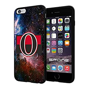 Ottawa Senators 2 Galaxy NHL Logo WADE5018 iPhone 6+ 5.5 inch Case Protection Black Rubber Cover Protector