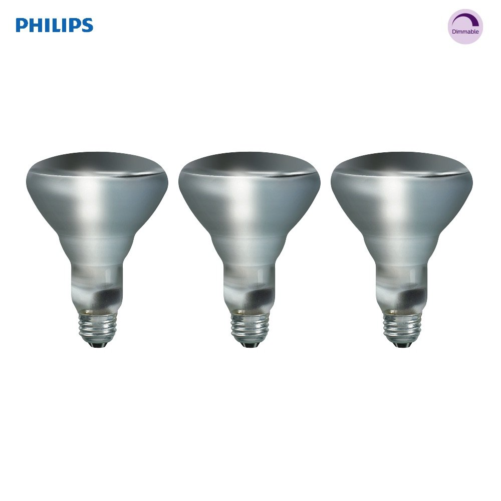 Philips 223040 65-Watt BR30 DuraMax Indoor Flood, 3-Pack