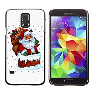 YOYO Slim PC / Aluminium Case Cover Armor Shell Portection //Christmas Holiday Santa Claus Holiday 1039 //Samsung Galaxy S5