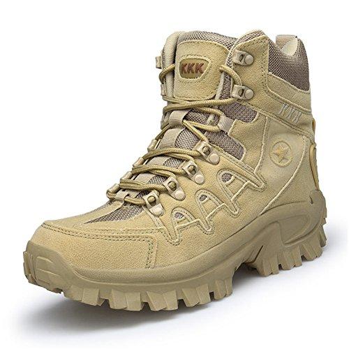 Men Waterproof Hiking Boots Backpacking Boot High Top Trekking Shoes Non Slip Climbing Sneakers