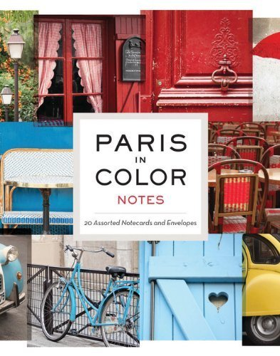 paris in color notes 20 assorted notecards and envelopes