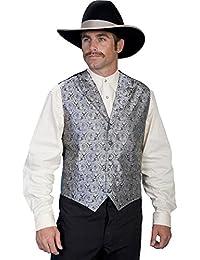 Rangewear Men's Rangewear Paisley Button Vest - Rw093 Pur
