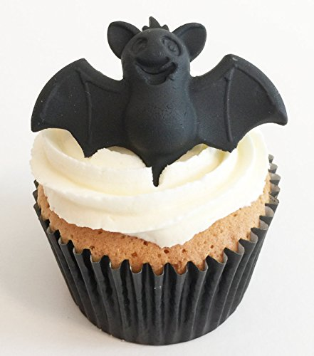 6 Spooky Large Sugar Bats- Edible & Made with Love in the UK!