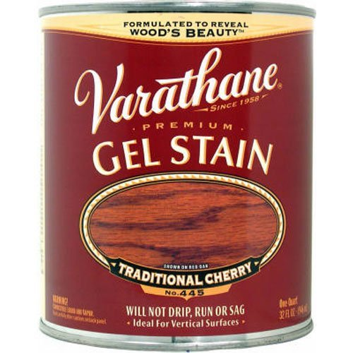 Varathane 224458H Premium Gel Stain, Quart, Traditional Cherry ()