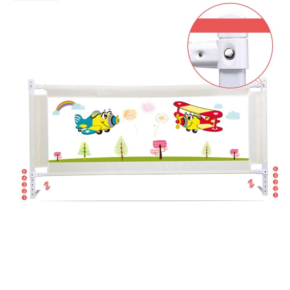 ZR- ベッドフェンス落ち着いたベッドガードの手すり昇降する子供のベッドサイドバッフルユニバーサル 150\180\200cm (色 : Gray-a-200cm)  Gray-a-200cm B07F5K5LP3