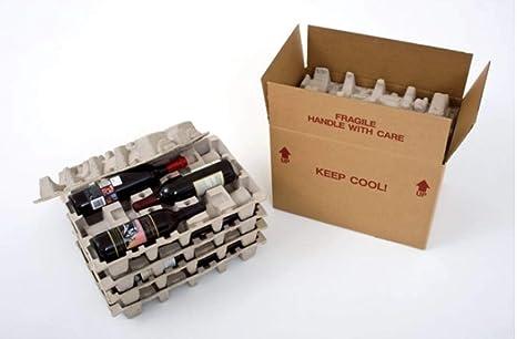 Amazon.com: Caja de vino con bandejas protectoras: Office ...