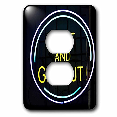 llinois, Chicago. Humorous Neon Sign At A Diner - Us14 Bja0055 - Jaynes Gallery - 2 Plug Outlet Cover (Illinois Neon Sign)