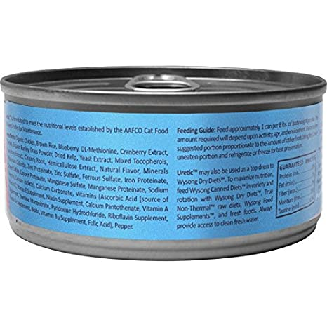Amazoncom Wysong Uretic With Organic Chicken Feline Diet Canned