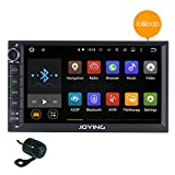 """JOYING 7"""" Android 5.1 Lollipop Quad Core Double 2 Din Car Stereo Touch Screen in Dash GPS Head Unit 1024*600 Car Radio Receiver with Navigation Support Bluetooth/subwoofer/rear camera/wifi/1080p+Backup Camera"""