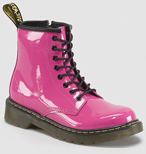 Dr. Martens Delaney Boot,Hot Pink,1 UK(2 M US Little Kid) - Hot Pink Patent Footwear