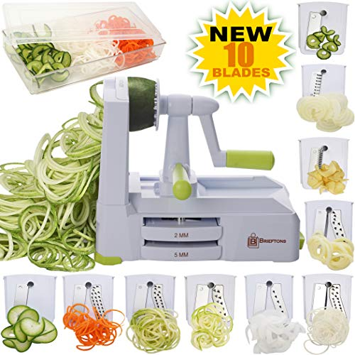 Brieftons 10 Blade Spiralizer Strongest Heaviest product image