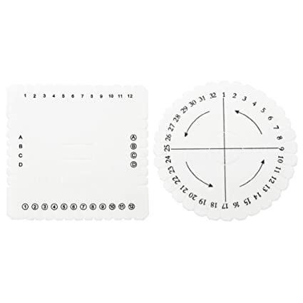 8d892698f4c5 Kumihimo redondo disco, 2pcs Kumihimo Disk Macrame trenzado cuerda cadena  pulsera hecha a mano que teje el disco(S)