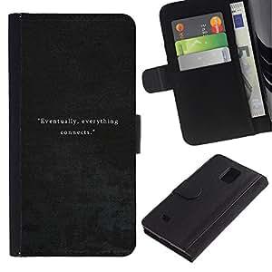 iKiki Tech / Cartera Funda Carcasa - Leather Grey Velvet - Samsung Galaxy Note 4 SM-N910F SM-N910K SM-N910C SM-N910W8 SM-N910U SM-N910