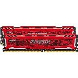 Ballistix Sport LT 16GB Kit (8GBx2) DDR4 2400 MT/s (PC4-19200) DIMM 288-Pin - BLS2K8G4D240FSE (Red)