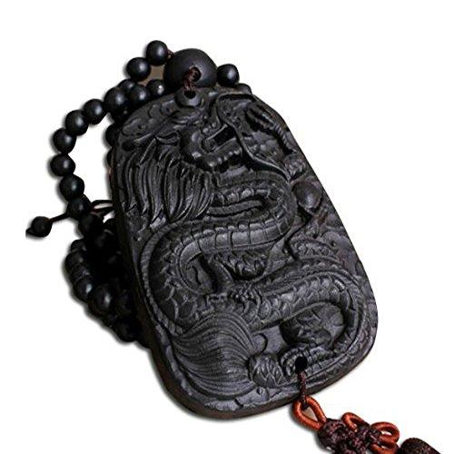 (Duojimi Ebony Beads Jewelry Ornaments Car Dragon Safe Car Pendant)