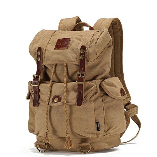 bolso de hombro de lona de algodón de los hombres/Recreación al aire libre senderismo mochila/Bolso del ordenador portátil de viaje-A A