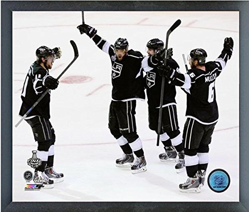 "Los Angeles Kings 2014 NHL Stanley Cup Game 2 Celebration Photo (Size: 12"" x 15"") Framed"