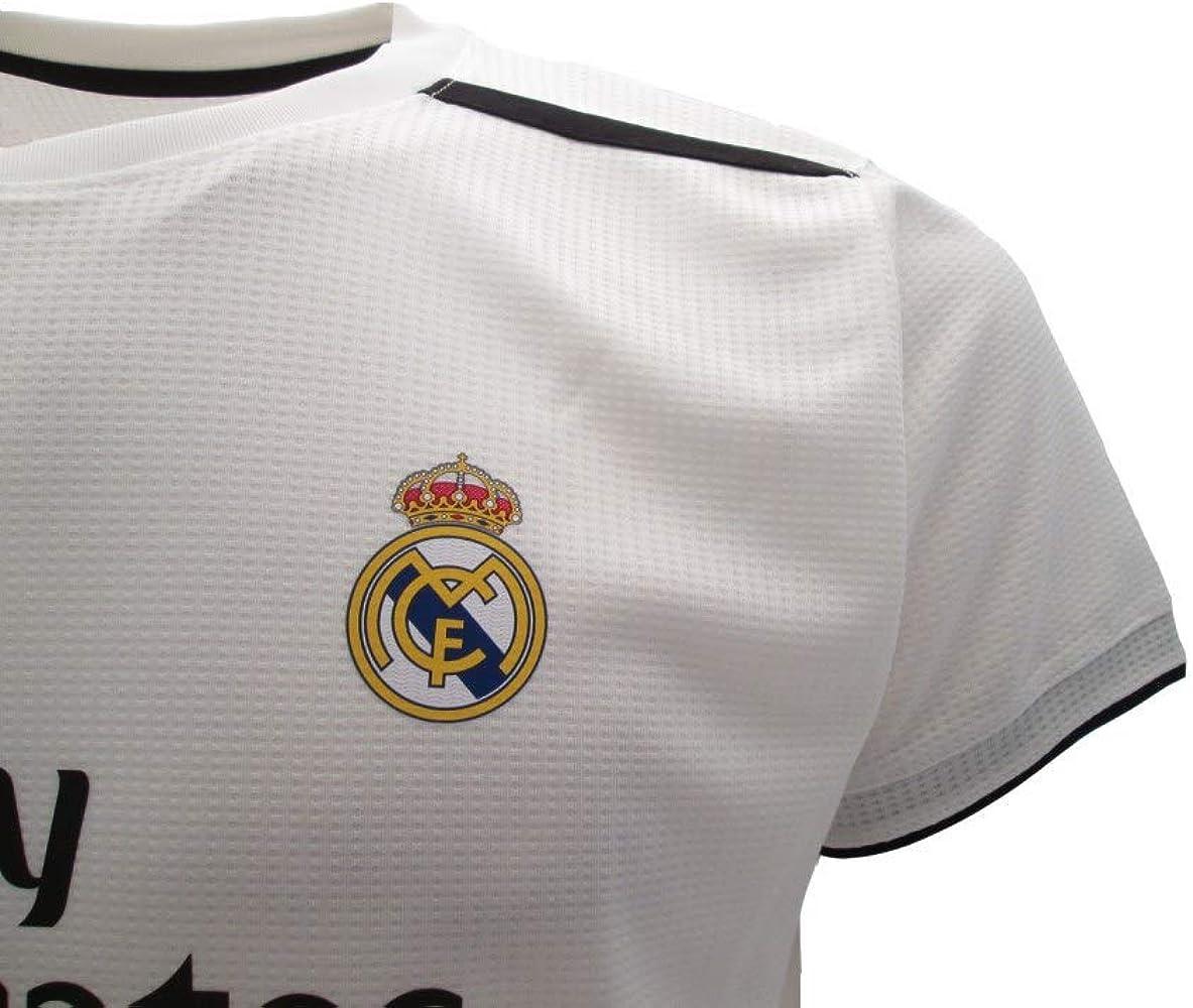 Real Madrid Camiseta de Fútbol Replica Oficial con Licencia Hazard Blanco número 7 en blíster Regalo - Todos Los Tamaños NIÑO y Adulto - 4 años: Amazon.es: Ropa y accesorios