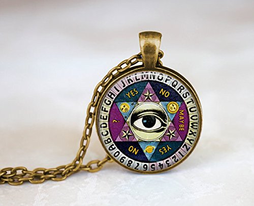 ON SALE Ouija board necklace, Vintage Quiji Board,