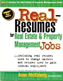 img - for Real-Resumes for Real Estate and Property Management Jobs book / textbook / text book