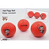 A99 Golf Piggy Tournament Ball 6pcs/2Packs (Orange)