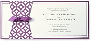 BRIDES Geometric Purple Print at Home Invitation Kit