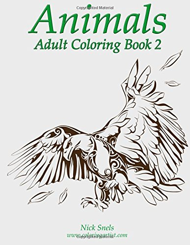 Animals Adult Coloring Book 2 (Volume 2) by CreateSpace Independent Publishing Platform