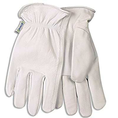 KINCO 92W-S Women's Unlined Goatskin Drivers Gloves, Small, White