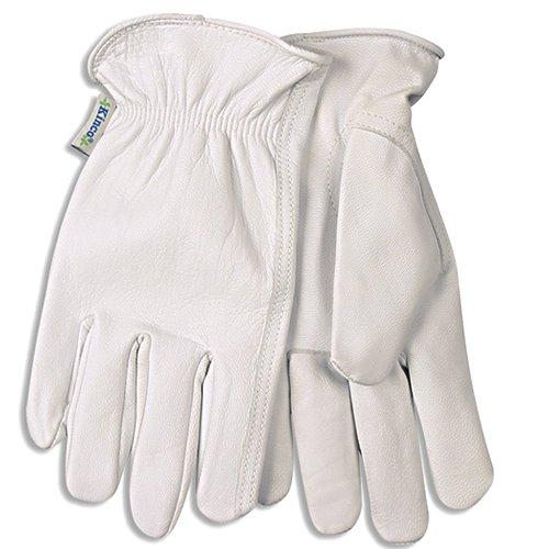 (KINCO 92W-S Women's Unlined Goatskin Drivers Gloves, Small, White)