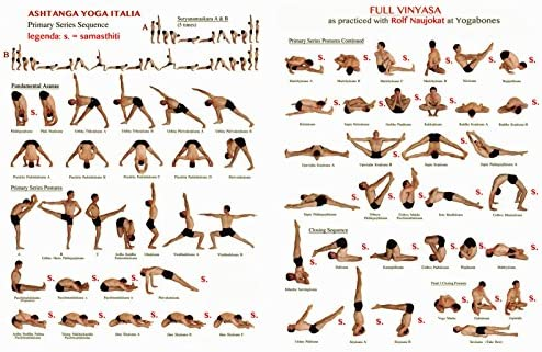 Amazon Com Newbrightbase Yoga Ashtanga Fabric Cloth Rolled Wall Poster Print Size 36 X 24 20 X 13 Posters Prints