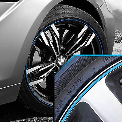 amazon com wheel bands sky blue in black pinstripe edge trim for
