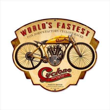 - Past Time Signs FRC050 Cyclone Motorcycle Custom Metal Shape