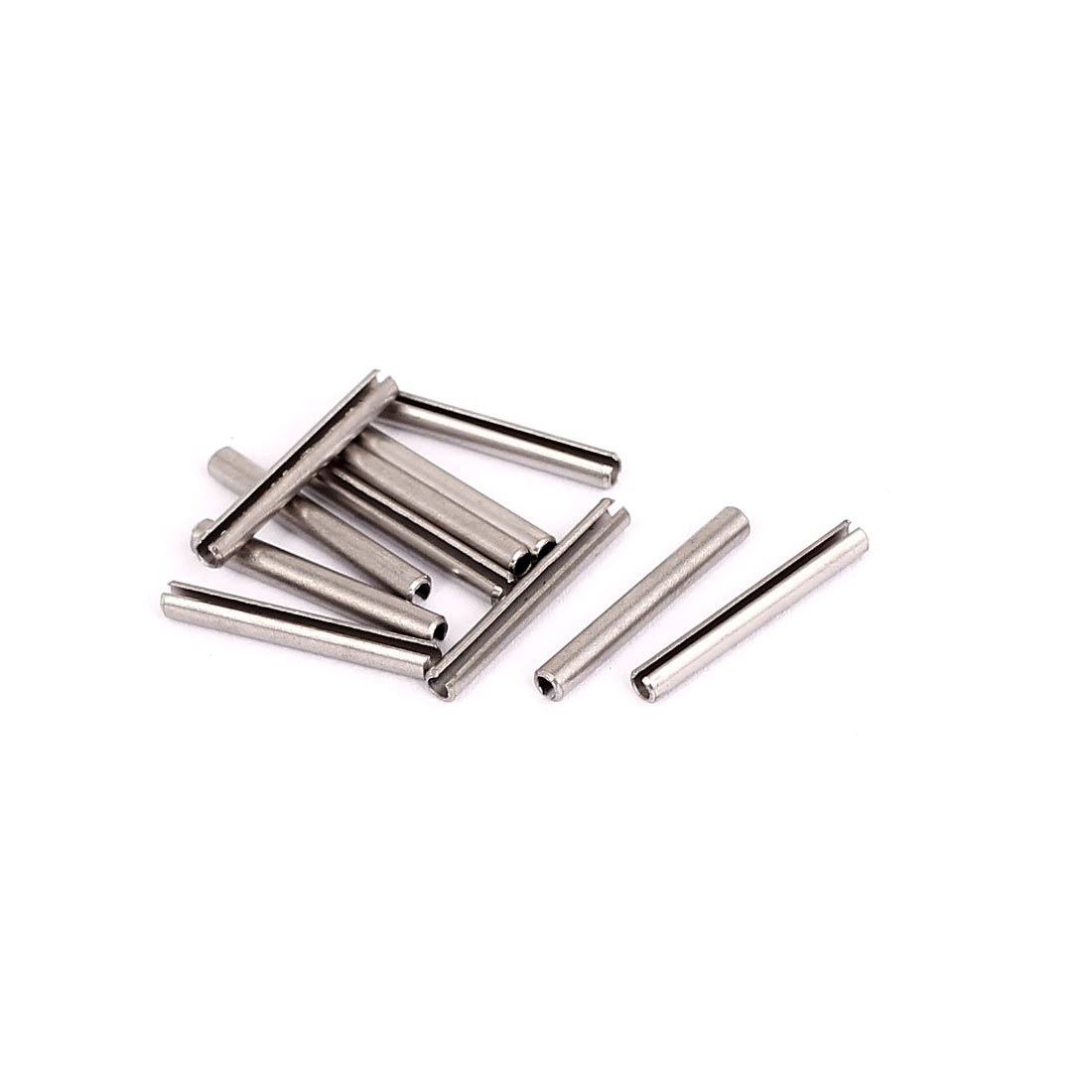 Sourcingmap a15081000ux0459 2.3 x 18 mm 304 Stainless Steel Split Spring Roll Dowel Pins - Silver Tone (10-Piece)