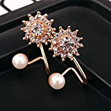 1Pair Women Sexy Fashion Jewelry Lady Elegant Pearl Rhinestone Ear Stud Earrings