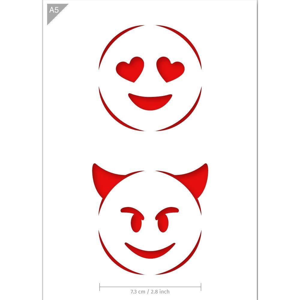 Amazon.com: Emoji plantilla de amor y Devil – Tarjeta o ...