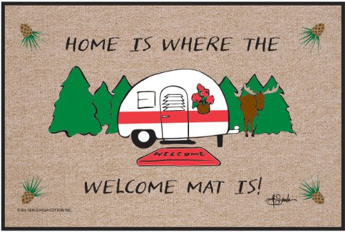 Home is Where The Welcome Mat Is Door Mat made our list of Inspirational And Funny Camping Quotes