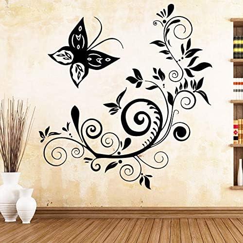 Apliques Mariposa artística calcomanías de vinilo pegatinas de pared dormitorio vivero decoración decoración accesorios xcm: Amazon.es: Bebé