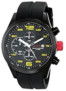 """red line Men's 50042-BB-01YL """"Stealth"""" Black Ion-Plated Stainless Steel Watch"""