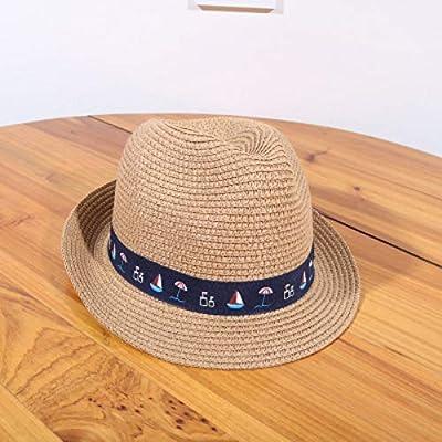 PVOWEJF Sombrero de Playa Sombrero para el Sol Sombrero de Paja ...