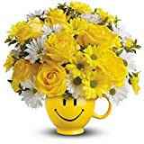 Teleflora's Be Happy Bouquet with Roses - Thinking of You Flowers