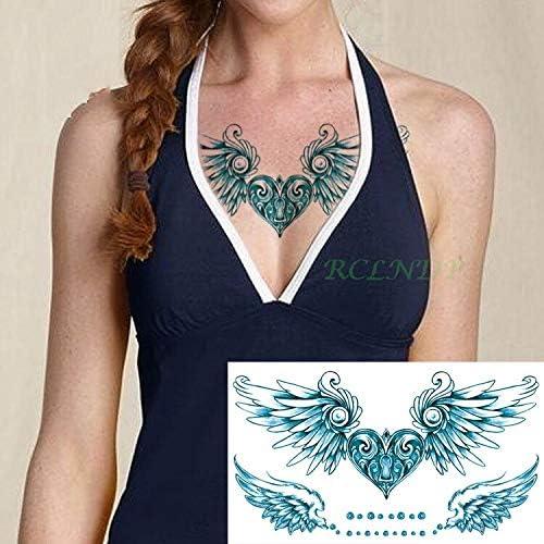 tzxdbh Etiqueta engomada del Tatuaje a Prueba de Agua corazón con ...