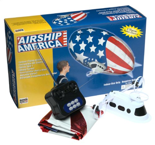 Indoor Rc Blimp (Mach IIIz Remote Controlled 3 Channel Airship America R C Blimp (Style May)