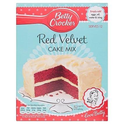 Betty Crocker Red Velvet Cake Mix 450g Backmischung Amazon De