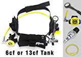 DXDiver Pony Setup with Weigh Integrated Nylon Belt SPG Gauge Regulator Fill Adapter - Spare Secondary Air Scuba Dive Egressor Rapid Dive Entry Rescue Clean Boat Propeller