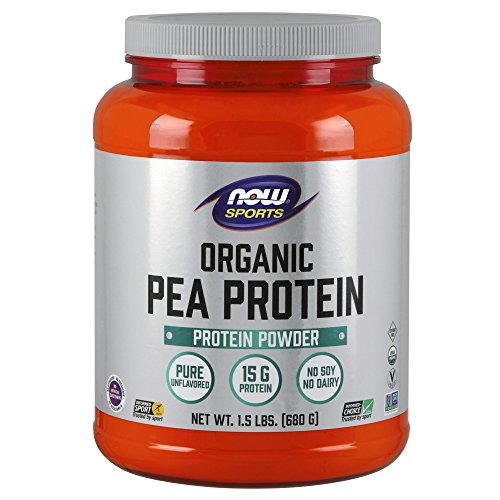 NOW Sports Nutrition, Organic Pea Protein Powder, Unflavored, 1.5-Pound 2 Lb Powder Now Foods