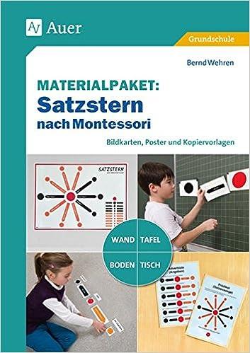 Materialpaket Satzstern nach Montessori: Bildkarten, Poster und ...