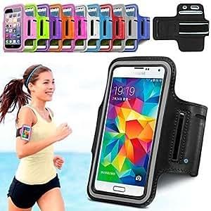 """GX delgado de moda 5.7 """"Brazalete deportivo para Samsung Galaxy Note 4 / borde nota y otros teléfonos (color clasificado) , Blue"""