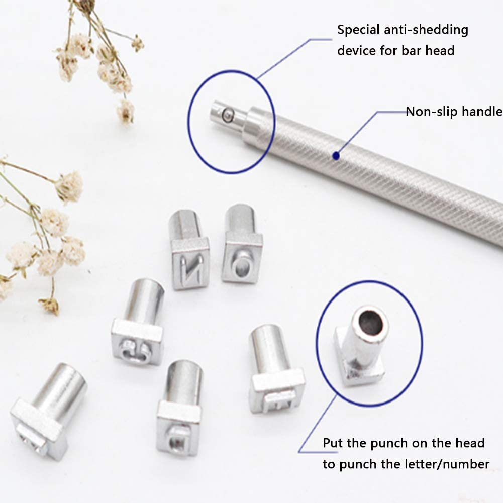 KYMLL 11pcs Punch Tool Punch Snap Kit Press Studs Tool Rivet Button Setter for Hole Punch PU Leather Craft DIY